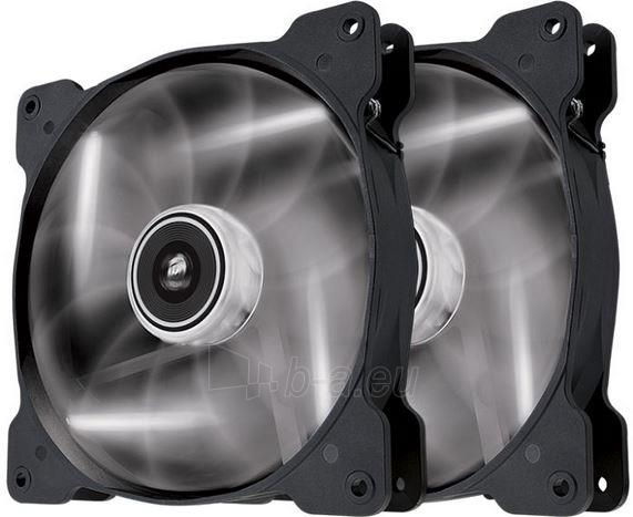 Corsair PC case fan Air Series SP140 WHITE LED, 140mm, 3pin, Twin Pack Paveikslėlis 1 iš 1 2502552400175