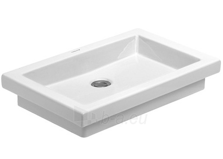 Counter top basin 58 cm 2nd floor,white, w/o of, Paveikslėlis 1 iš 1 270711000811