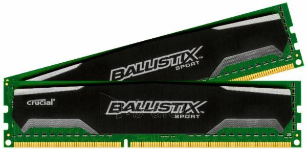 Crucial UDIMM 8GB DDR3-1600, PC3-12800, Unbuffered, NON-ECC , CL11, 1024Meg x 64, 1.35V Paveikslėlis 1 iš 1 250255112302