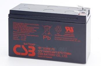 CSB 2 baterijų rinkinys HR1234W 12V/9Ah Paveikslėlis 1 iš 1 250254300953