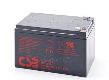 CSB baterija GP12120F2 12V/12Ah Paveikslėlis 1 iš 1 250254300961