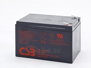 CSB baterija GPL12120 12V/12Ah - baterija 8 metams Paveikslėlis 1 iš 1 250254300964
