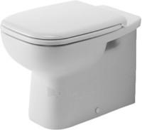D-Code tualete, tvirtinamas prie grindų, horizontals, baltas Paveikslėlis 1 iš 1 270713000563