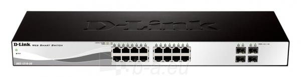D-Link 16-port 10/100/1000 Base-T with 4 x 1000Base-T /SFP ports Paveikslėlis 1 iš 2 250257501297
