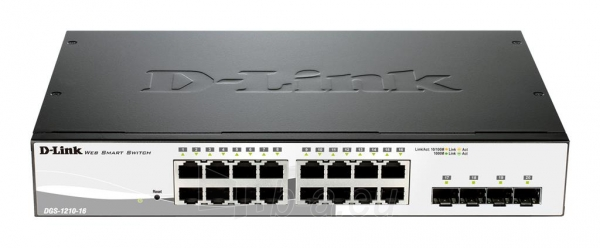 D-Link 16-port 10/100/1000 Base-T with 4 x 1000Base-T /SFP ports Paveikslėlis 2 iš 2 250257501297