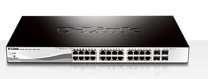 D-Link 24 PoE 10/100/1000 Base-T port with 4 x 1000Base-T /SFP ports Paveikslėlis 1 iš 1 250257501322