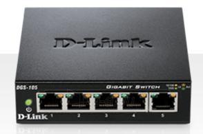 D-Link 5-port 10/100/1000 Gigabit Metal Housing Desktop Switch Paveikslėlis 1 iš 1 250257501135