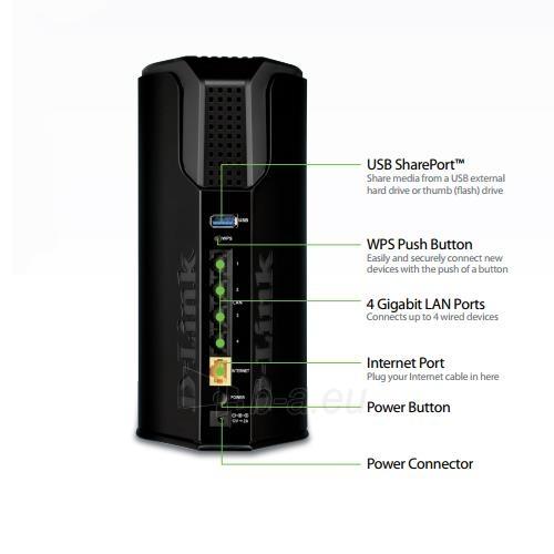 D-Link Wireless AC1750 Dual Band Gigabit Cloud Router USB 3.0 Paveikslėlis 3 iš 3 250257200534