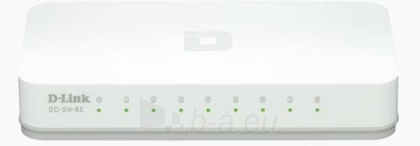 D-LinkGo 8 Port 10/100 Unmanaged Switch Paveikslėlis 1 iš 1 250257501150