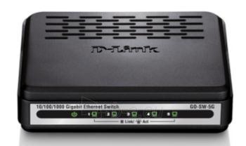 D-LinkGo GigaExpress Switch 5x1000Mbit (RJ45) Paveikslėlis 1 iš 1 250257501151