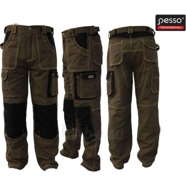 Darbo kelnės Pesso rudos spalvos Paveikslėlis 1 iš 1 224604600049