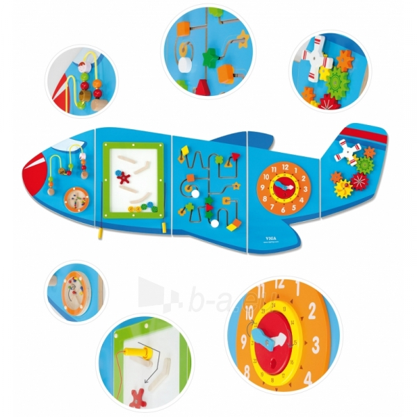 Daugiafunkcis medinis sieninis žaidimas | Lėktuvas | Viga Paveikslėlis 1 iš 10 310820171826