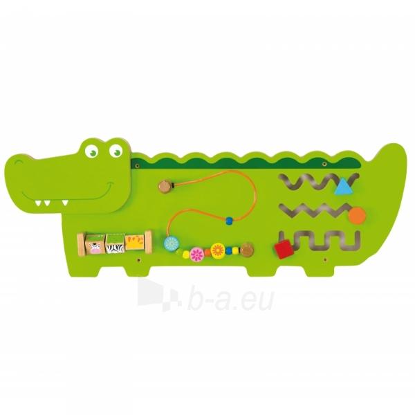 Daugiafunkcis sieninis žaidimas | Krokodilas | Viga Toys Paveikslėlis 1 iš 2 310820157273