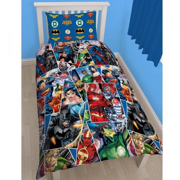 DC komiksų Teisingumo lyga dvipusės patalynės komplektas Paveikslėlis 1 iš 3 30115700678