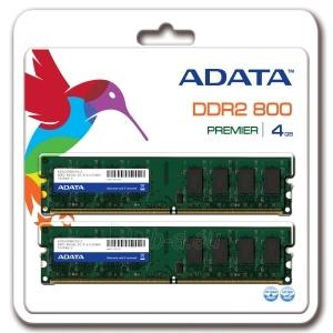 DDR2 Adata 2x2GB 800MHz CL6 DIMM 1.8V Paveikslėlis 1 iš 1 250255112144