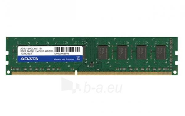 DDR3 Adata 8GB (2x4GB) 1600MHz CL11 1.5V Paveikslėlis 1 iš 1 310820011662