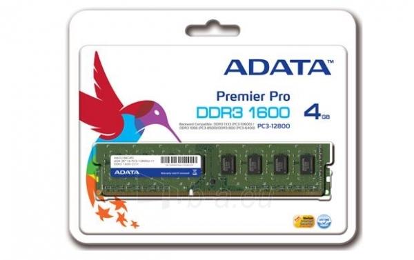 DDR3 Adata XPG 4GB 1600MHz CL9 1.5V Paveikslėlis 1 iš 1 250255112280