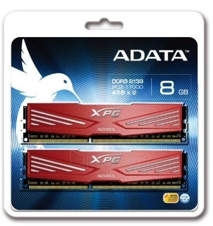 DDR3 Adata XPG V1 Red 8GB (2x4GB) 2133MHz CL10 1.65V Paveikslėlis 1 iš 1 250255112063