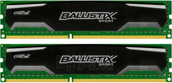 DDR3 Crucial Ballistix Sport 16GB (2x8GB) 1600MHz CL9 1.5V Paveikslėlis 1 iš 1 250255111975
