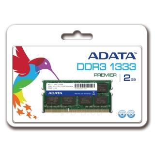 DDR3 SODIMM Adata 2GB 1333MHz CL9 1.5 V - Retail Paveikslėlis 1 iš 1 250255112095