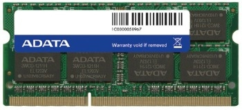 DDR3 SODIMM Adata 8GB 1600MHz CL11 1.5V Retail Paveikslėlis 1 iš 1 250255112233
