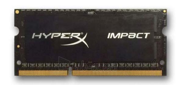 DDR3L SODIMM Kingston HyperX Impact Black 8GB 1600MHz CL9 1.35V Paveikslėlis 1 iš 1 250255112003