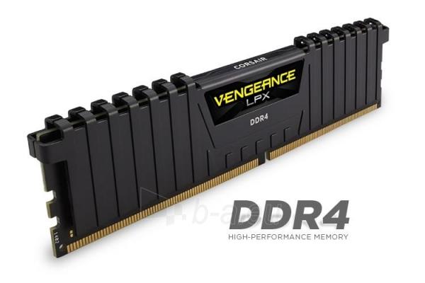 DDR4 Corsair Vengeance LPX 16GB (4x4GB) 3000MHz CL15 1.35V, Intel XMP 2.0 Paveikslėlis 1 iš 1 310820015674