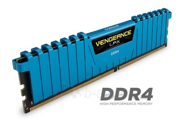 DDR4 Corsair Vengeance LPX Blue 16GB (4x4GB) 2400MHz CL14 1.2V, XMP 2.0 Paveikslėlis 1 iš 1 310820015588