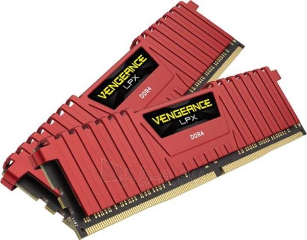 DDR4 Corsair Vengeance LPX Red 16GB (2x8GB) 2400MHz CL14 1.20V Paveikslėlis 1 iš 1 310820015746