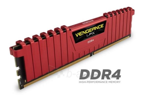 DDR4 Corsair Vengeance LPX Red 16GB (4x4GB) 3000MHz CL15 1.35V, Intel XMP 2.0 Paveikslėlis 1 iš 1 310820011669