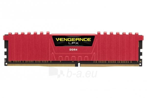 DDR4 Corsair Vengeance LPX Red 8GB 2400MHz PC4-19200 CL14 1.2V Paveikslėlis 1 iš 1 310820015741