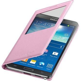 Dėklas Samsung EF-CN900BIE N9000 / N9005 Note 3 S-view soft pink Paveikslėlis 1 iš 1 310820012759