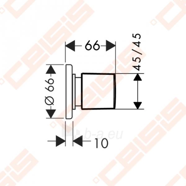 Dekoratyvinė dalis E uždaromojo ventilio HANSGROHE Metris Paveikslėlis 2 iš 2 270721000560