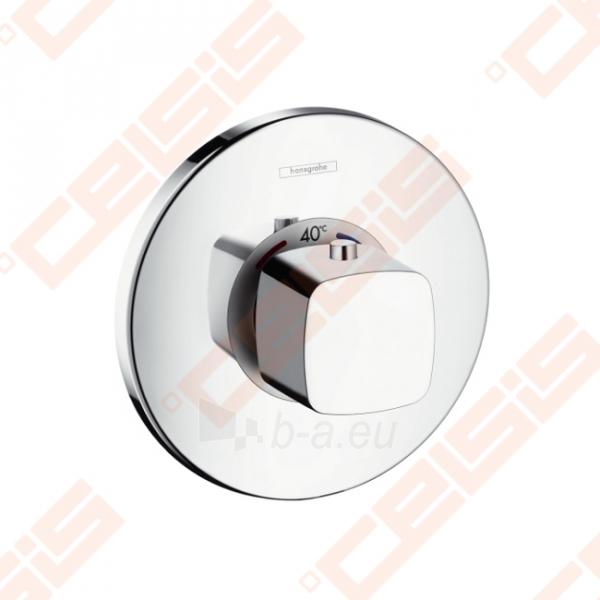 Dekoratyvinė dalis potinkiniam termostatiniam dušo maišytuvui HANSGROHE Metris Ecostat E, 59 l/min Paveikslėlis 1 iš 2 270721000568