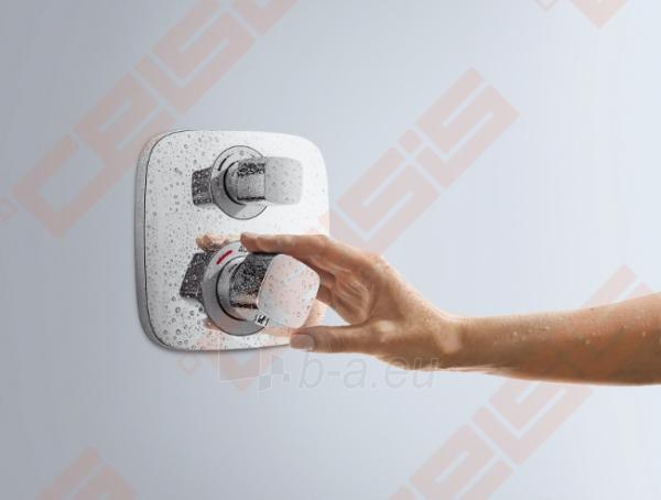 Dekoratyvinė dalis potinkiniam termostatiniam dušo maišytuvui HANSGROHE metris Ecostat E 2 taškų Paveikslėlis 3 iš 4 270721000564
