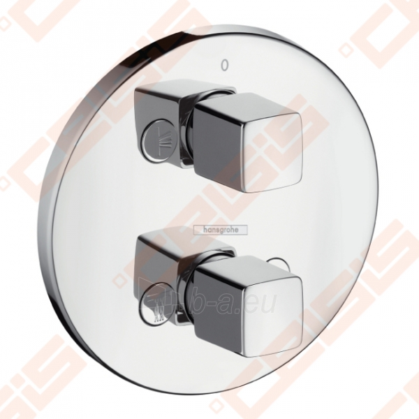 Dekoratyvinė dalis potinkiniam termostatiniam dušo maišytuvui HANSGROHE MetrisiControl E su perjungėju Paveikslėlis 1 iš 3 270721000569