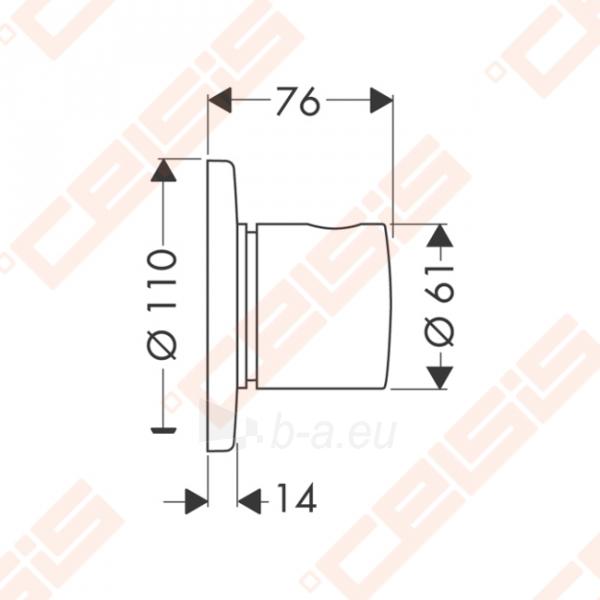 Dekoratyvinė dalis potinkiniam ventiliui HANSGROHE Trio/Quattro S Paveikslėlis 2 iš 2 270721000573