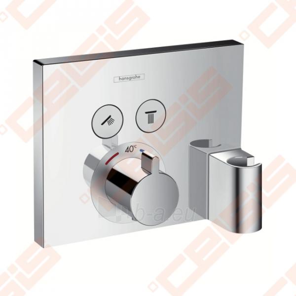 Dekoratyvinė dalis termostatiniam dušo maišytuvui HANSGROHE Select dviems taškams su laikikliu Paveikslėlis 1 iš 4 270721000585