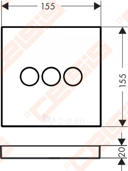 Dekoratyvinė dalis termostatiniam dušo maišytuvui HANSGROHE Select highflow trims taškams Paveikslėlis 2 iš 4 270721000587