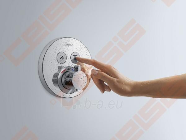 Dekoratyvinė dalis termostatiniam dušo maišytuvui HANSGROHE Select S dviems taškams Paveikslėlis 3 iš 4 270721000589