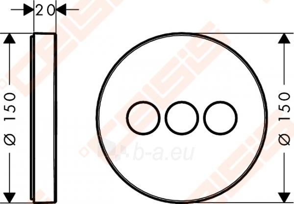 Dekoratyvinė dalis termostatiniam dušo maišytuvui HANSGROHE Select S trims taškams Paveikslėlis 2 iš 2 270721000591