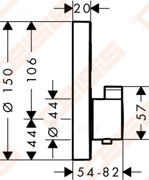 Dekoratyvinė dalis termostatiniam dušo maišytuvui HANSGROHE Select S Paveikslėlis 2 iš 2 270721000588