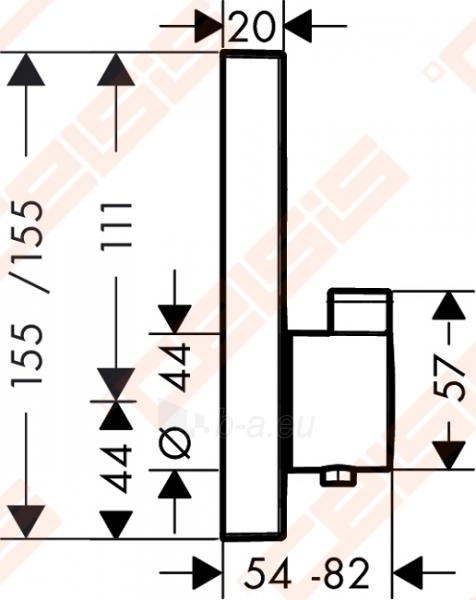 Dekoratyvinė dalis termostatiniam dušo maišytuvui HANSGROHE Select Paveikslėlis 2 iš 5 270721000583