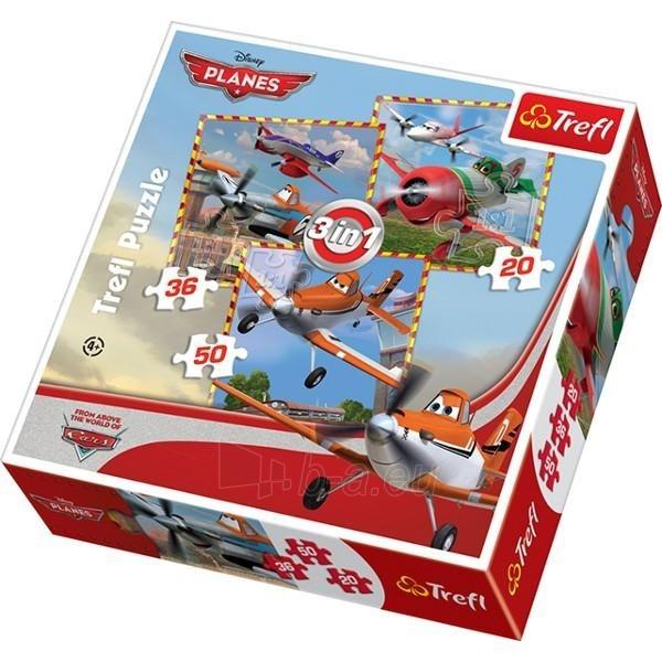 Dėlionė TREFL 34189  Самолеты, 3 в 1 Paveikslėlis 1 iš 1 250710100559
