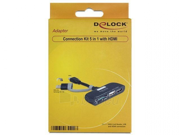 Delock Connection Kit 5 in 1 with HDMI Paveikslėlis 2 iš 2 250255081512