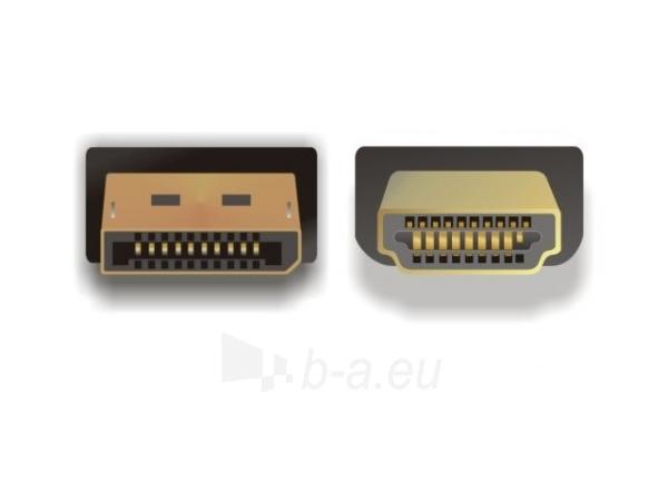 Delock kabelis Displayport (M) -> HDMI (M) 3m gold Paveikslėlis 2 iš 2 250255081391