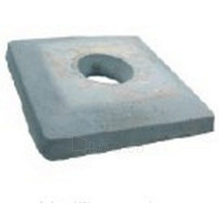 Betona plāksne aptverot FIBO Ø 180 mm 440 x 440 x 70 31 Kg Paveikslėlis 1 iš 1 238800000050