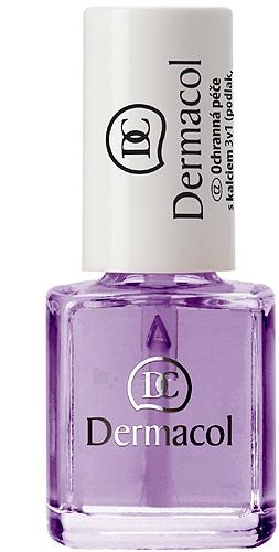 Dermacol Protective nail polish with calcium 3v1 Cosmetic 7ml Paveikslėlis 1 iš 1 250874000079
