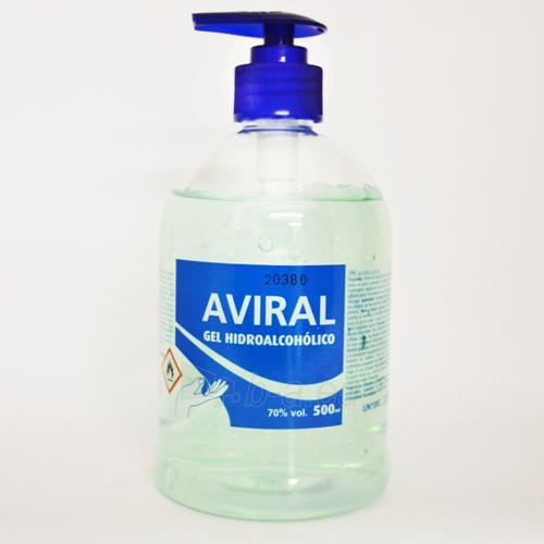 Dezinfekcinis hidroalkoholinis rankų gelis AVIRAL 500 ml. Paveikslėlis 1 iš 1 310820209660
