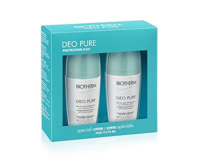 Dezodorantas Biotherm Gift Set Deo Pure (Antiperspirant Roll-On With Mineral Complex) 2 x 75 ml Paveikslėlis 1 iš 1 310820112635